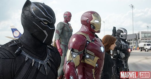 Iron Man und seine Mitstreiter in Marvel's 'Captain America: Civil War'<br>