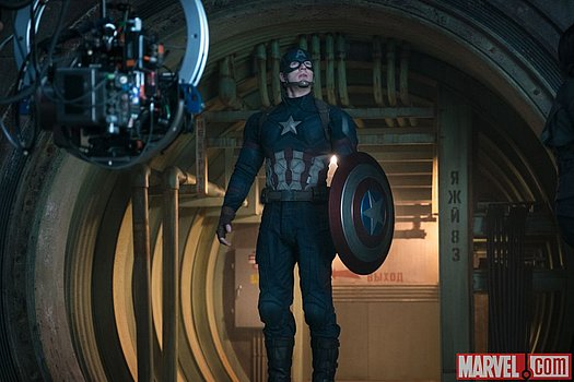 Chris Evans (Captain America) am Set von Marvel's 'Captain America: Civil War'<br>